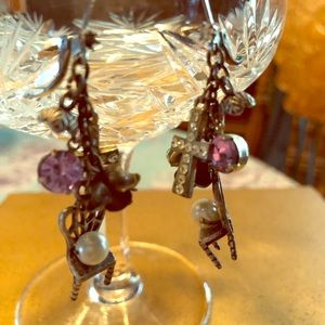 Betsey Johnson pierced earrings with charms